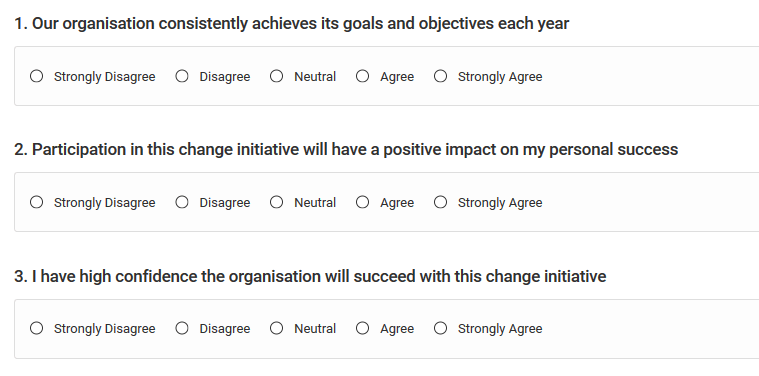 Change Success First 3 Questions